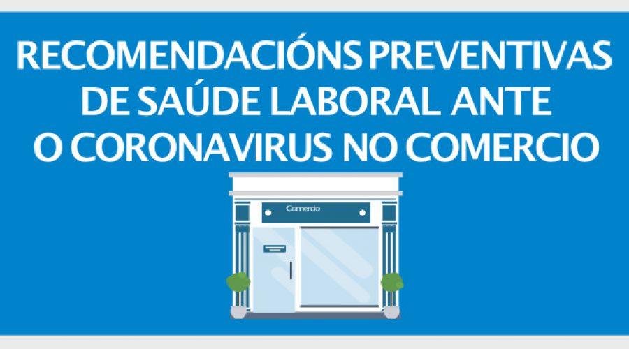 Recomendacións preventivas de saúde ante o coronavirus