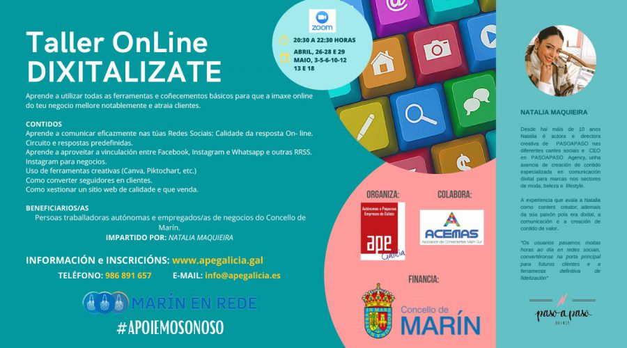 Novo curso de formación sobre dixitalización, redes sociais e imaxe online